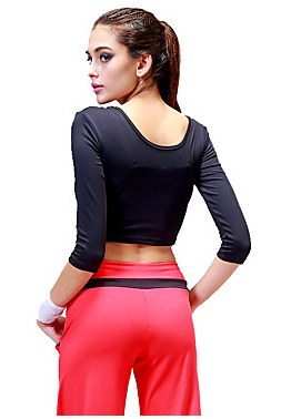 Women's Elastane Top Half Sleeve Activewear #05019571