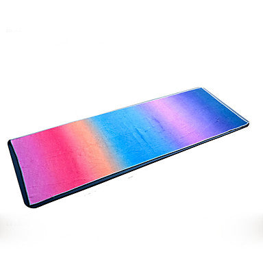 Yoga Mat Ultra Slim Elastic Sticky Collapsible Superfine fiber#07264477