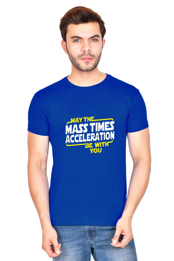 May the Mass Times Acceleration (M) - Royal Blue