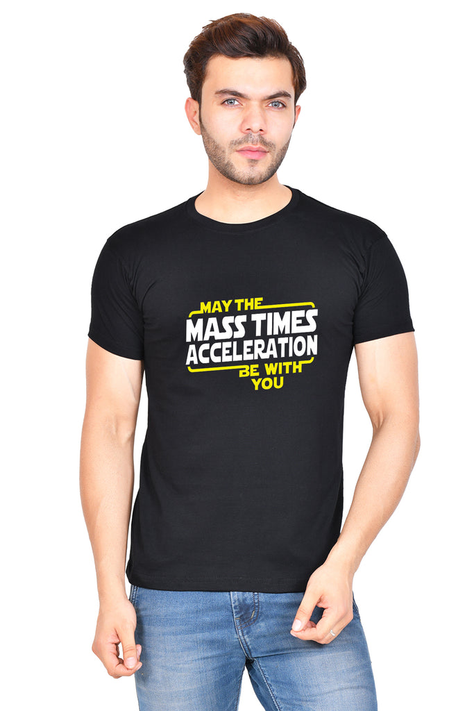 May the Mass Times Acceleration (M) - Black