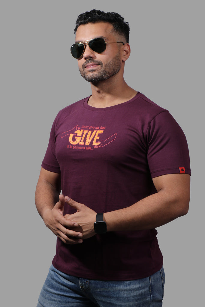 GIVE wine T-SHIRT (UNISEX FIT)