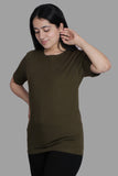 OLIVE PREMIUM COTTON SOLID COLOUR T-SHIRT (UNISEX FIT)