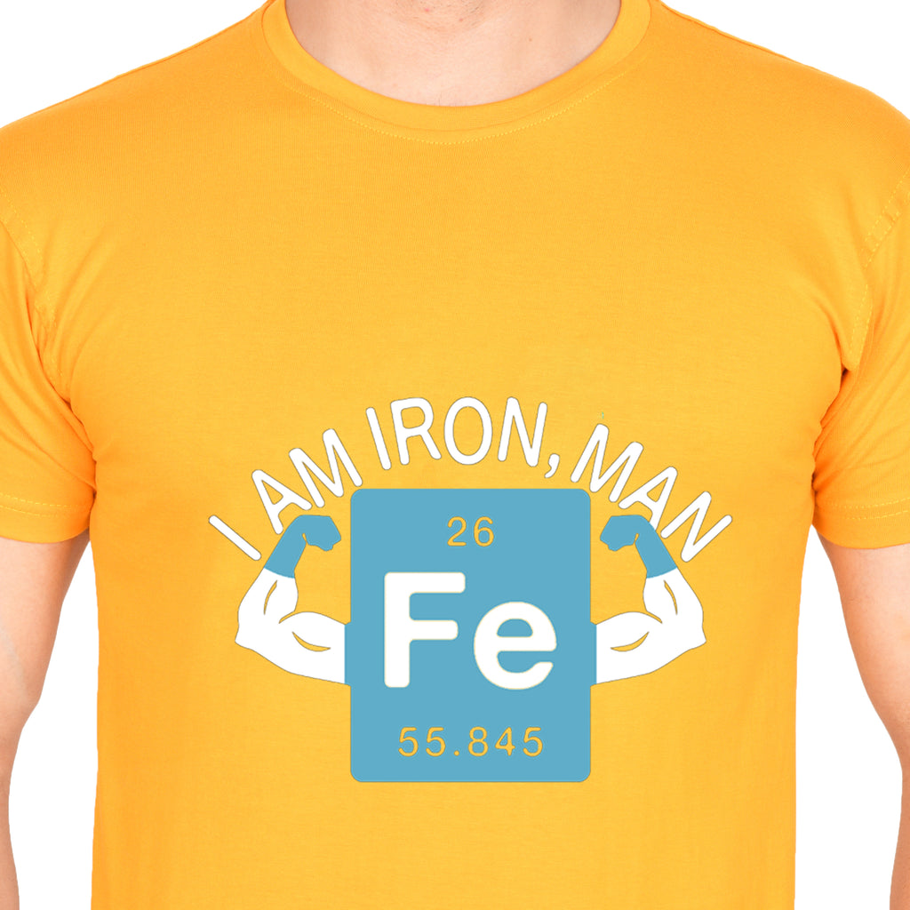 I am Iron Man (M) - Mustard Yellow