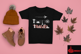 TIME TO TRAVEL BLACK (UNISEX FIT )