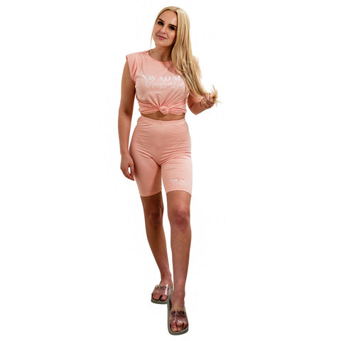 Nwaoma Australia PoserSuit Loungewear Peach Shorts and TShirt