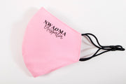 Nwaoma Australia three layer face mask with filter pink on white background