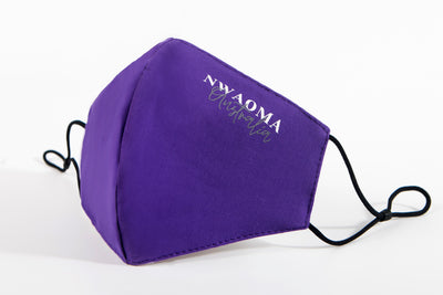 Nwaoma Australia three layer face mask with filter purple on white background