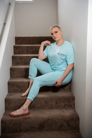 Nwaoma Australia Loungewear BrunchSuit Blue Pants and TShirt