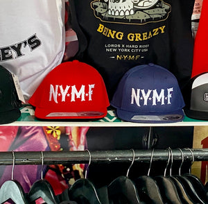 NYMF snap back hat