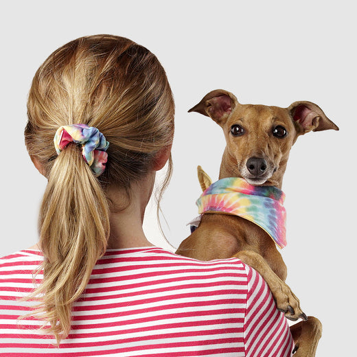 Adult Follow Me Scrunchie in Tie Dye, Canada Pooch Human Scrunchie