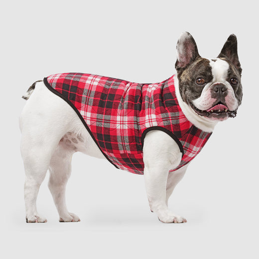 Reversible Dog Vest in Black Plaid, Canada Pooch Reversible Dog Vest