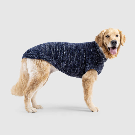 Soho Dog Sweater in Navy Mix, Canada Pooch Dog Sweater