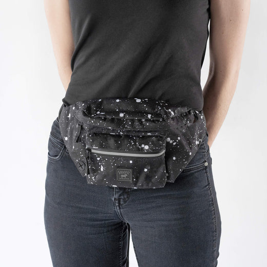 Adult Fanny Pack in Black Splatter, Canada Pooch Everything Fanny Pack