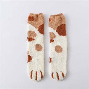 Winter Cat Claw Socks