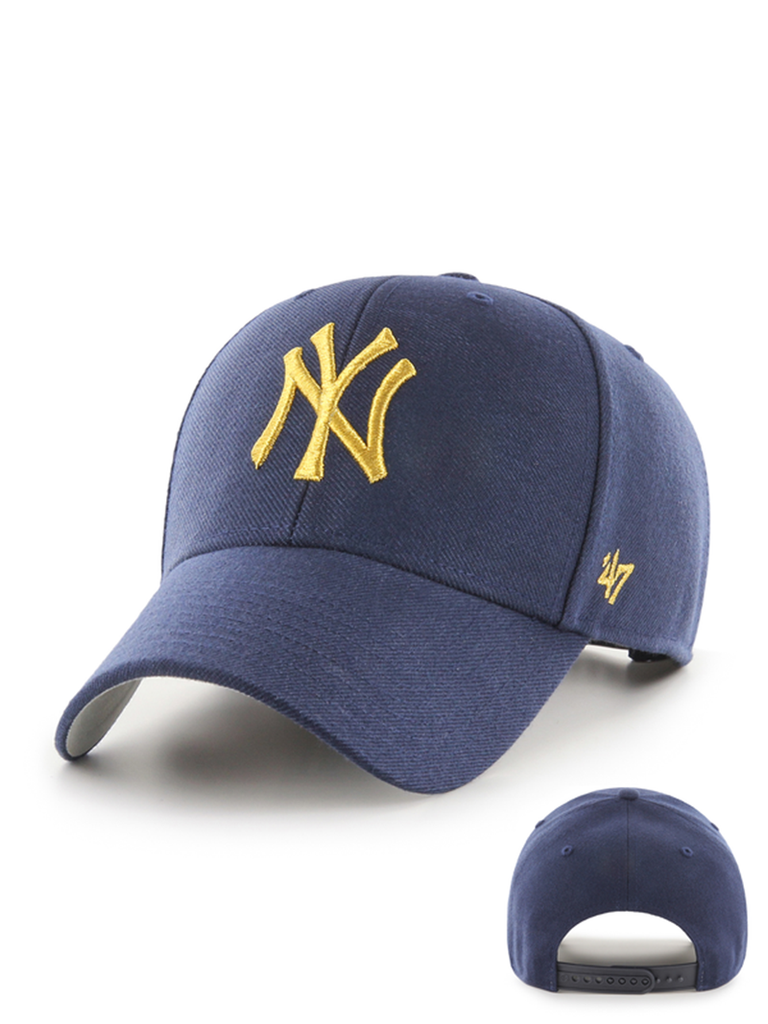 47 CASQUETTE MLB NEW YORK YANKEES METALLIC SNAP MVP LIGHT MARINE