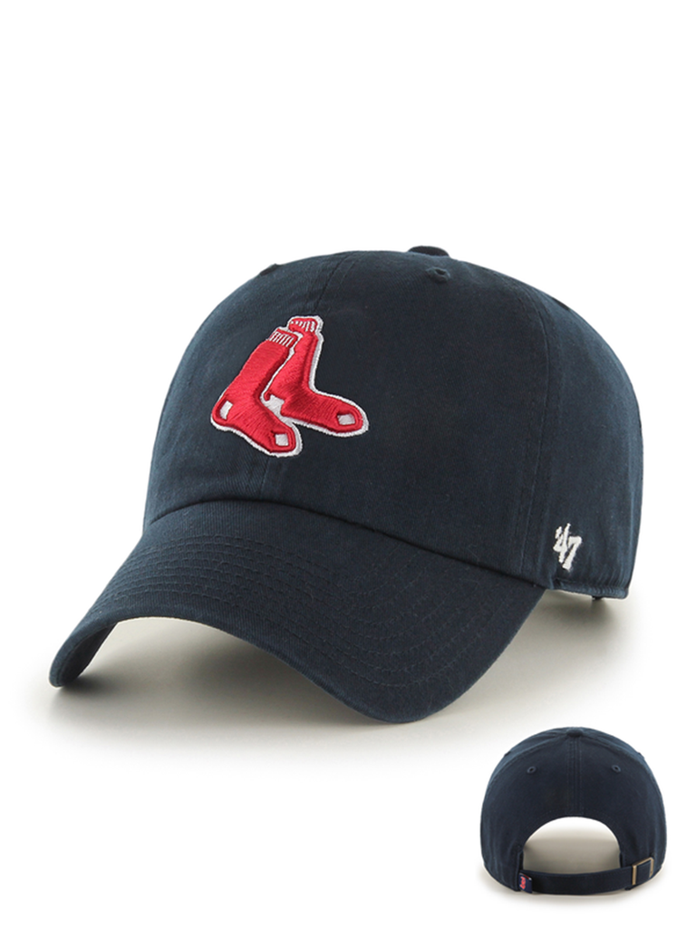 47 CASQUETTE MLB BOSTON RED SOX CLEAN UP BLEU MARINE