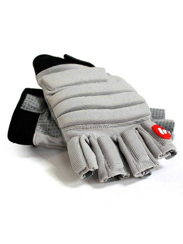 Gants de football américain de linemen fit court Gris Barnett