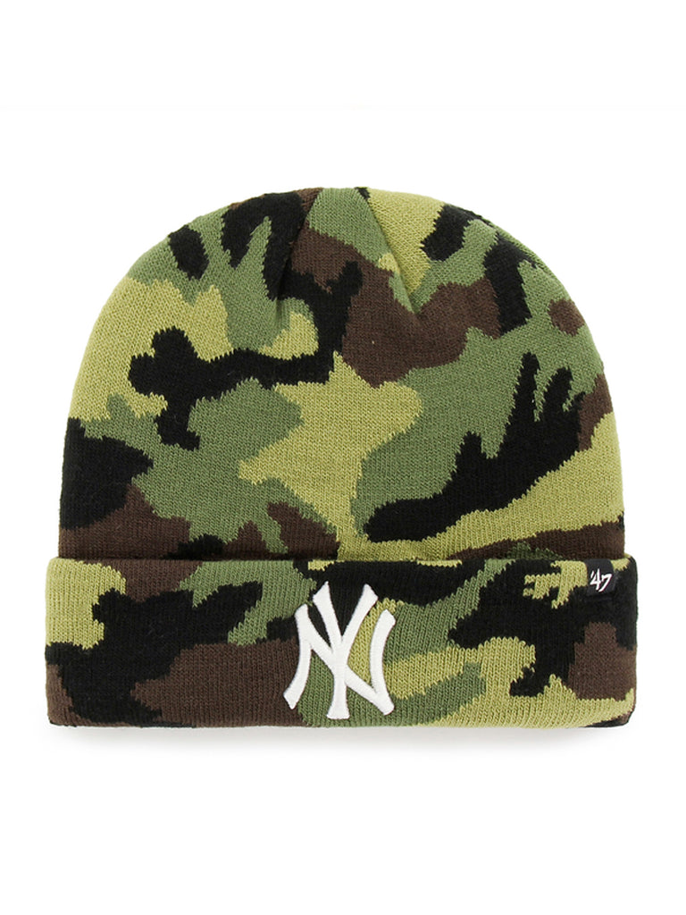 47 BONNET MLB NEW YORK YANKEES GROVE CUFF KNIT CAMO