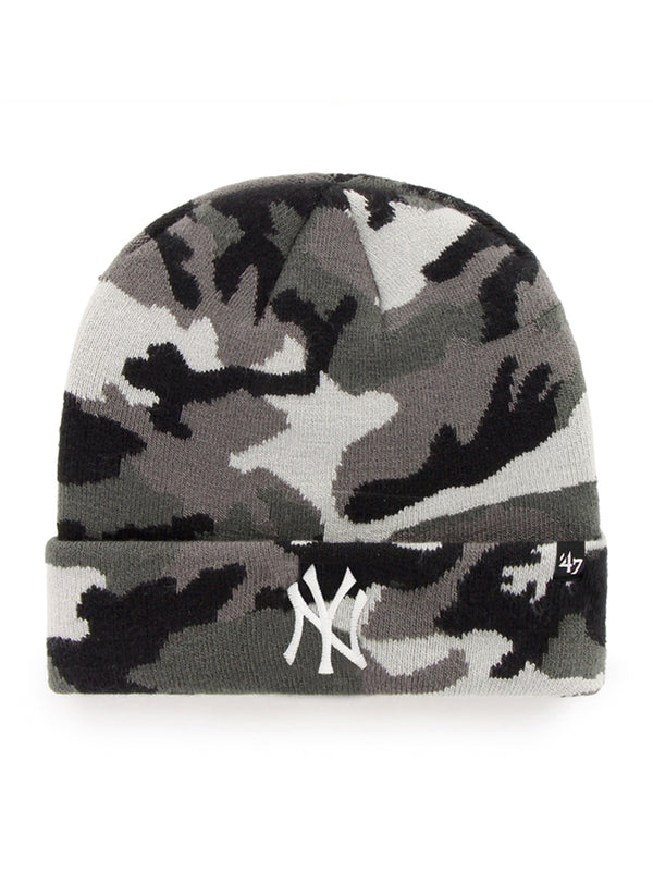 47 BONNET MLB NEW YORK YANKEES GROVE CUFF KNIT GREY