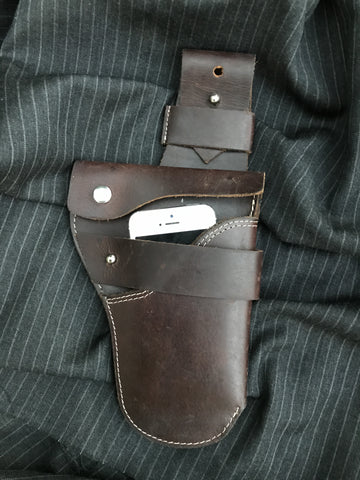 Urban Holster Brown with White Stitches