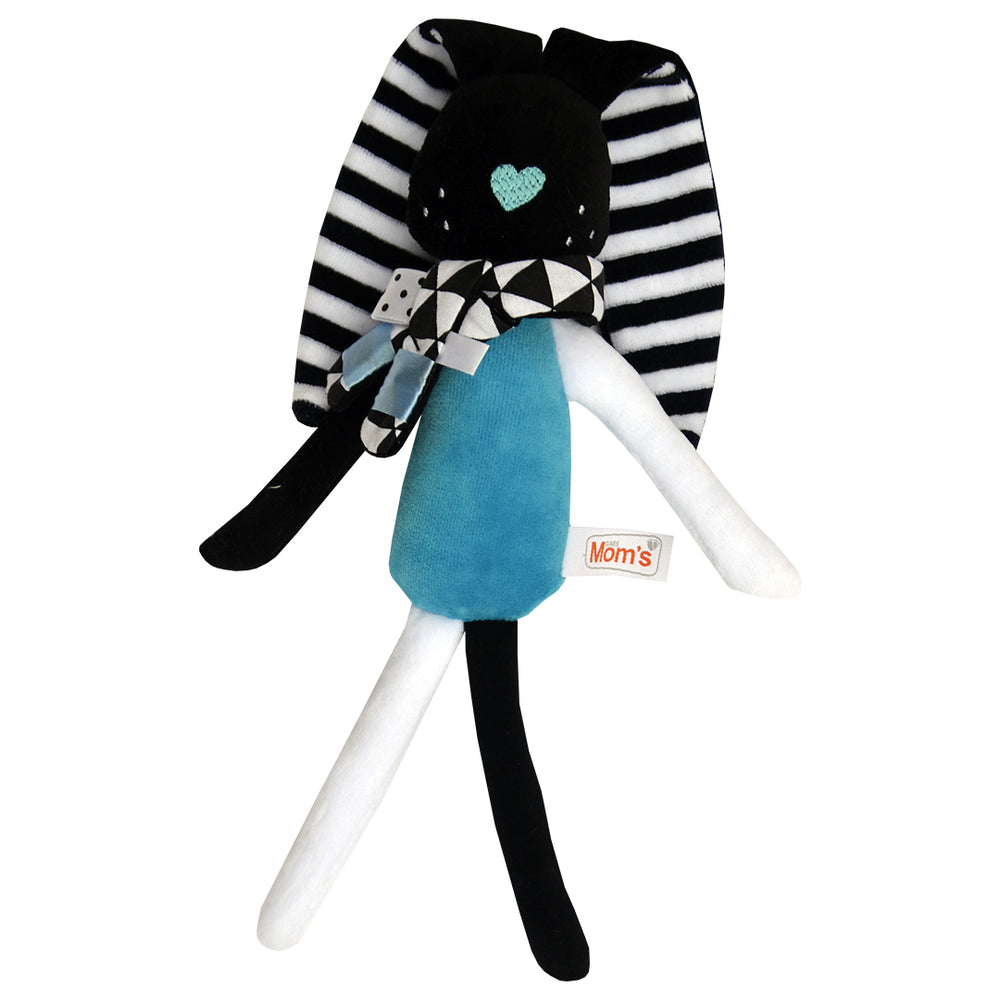 MR. BUNNY - BLACK & WHITE SENSORY TOY - Babyllama store