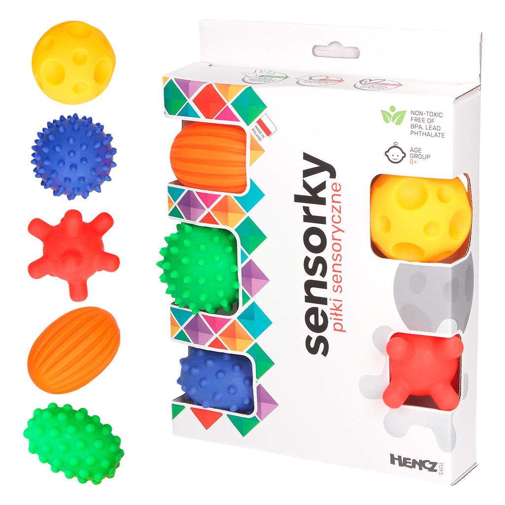 SENSORY TOY BALLS (set of 5)-Sensory Toy-Babyllama store