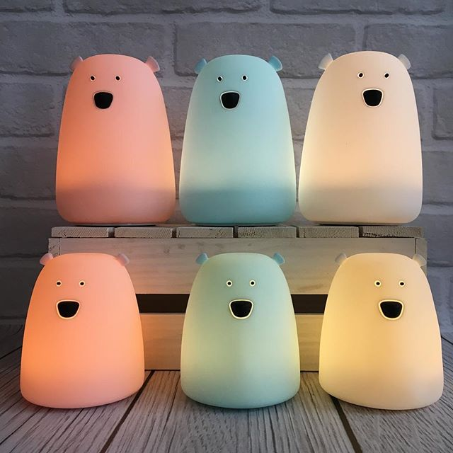 SMALL BEAR NIGHT LIGHT - PINK-Nightlight-Babyllama store