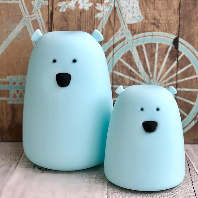 SMALL BEAR NIGHT LIGHT - BLUE-Nightlight-Babyllama store