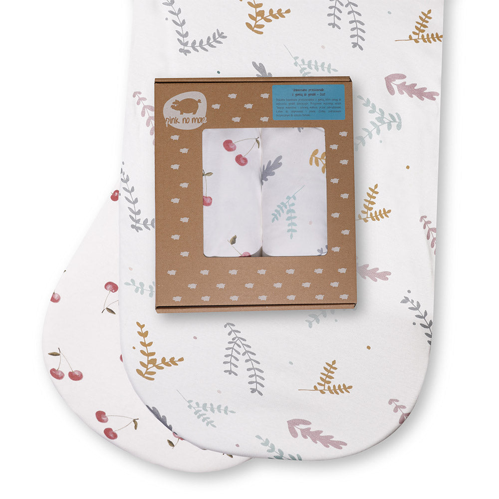 FITTED SHEET FOR PRAMS/MOSES BASKET - CHERRIES & TWIGS Set of 2-Sheet-Babyllama store