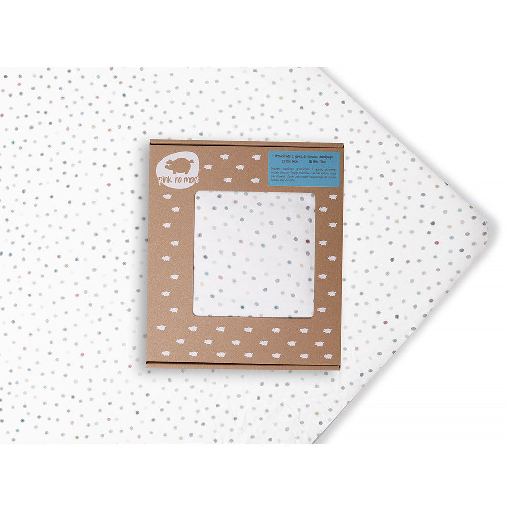 COT FITTED SHEET - DOTS 120X60cm-Sheet-Babyllama store