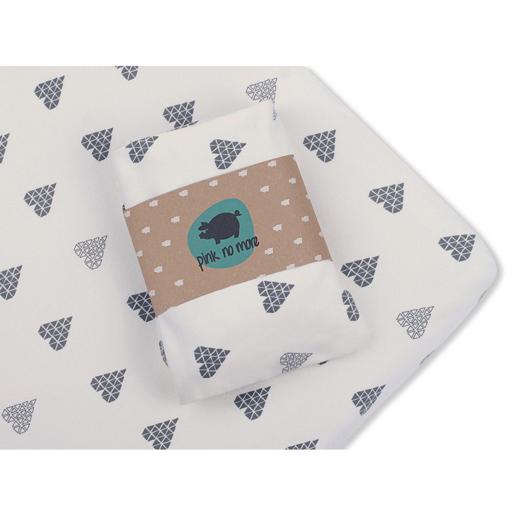 COT FITTED SHEET - HEARTS-Sheet-Babyllama store