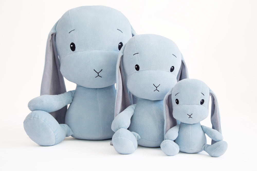 BUNNY EFFIK - BLUE WITH GREY EARS S 20cm-Soft Toy-Babyllama store