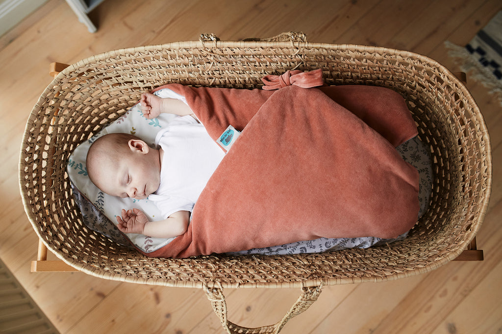 SWADDLE BLANKET SET 3in1 - PEACH WITH TWIGS - Babyllama store
