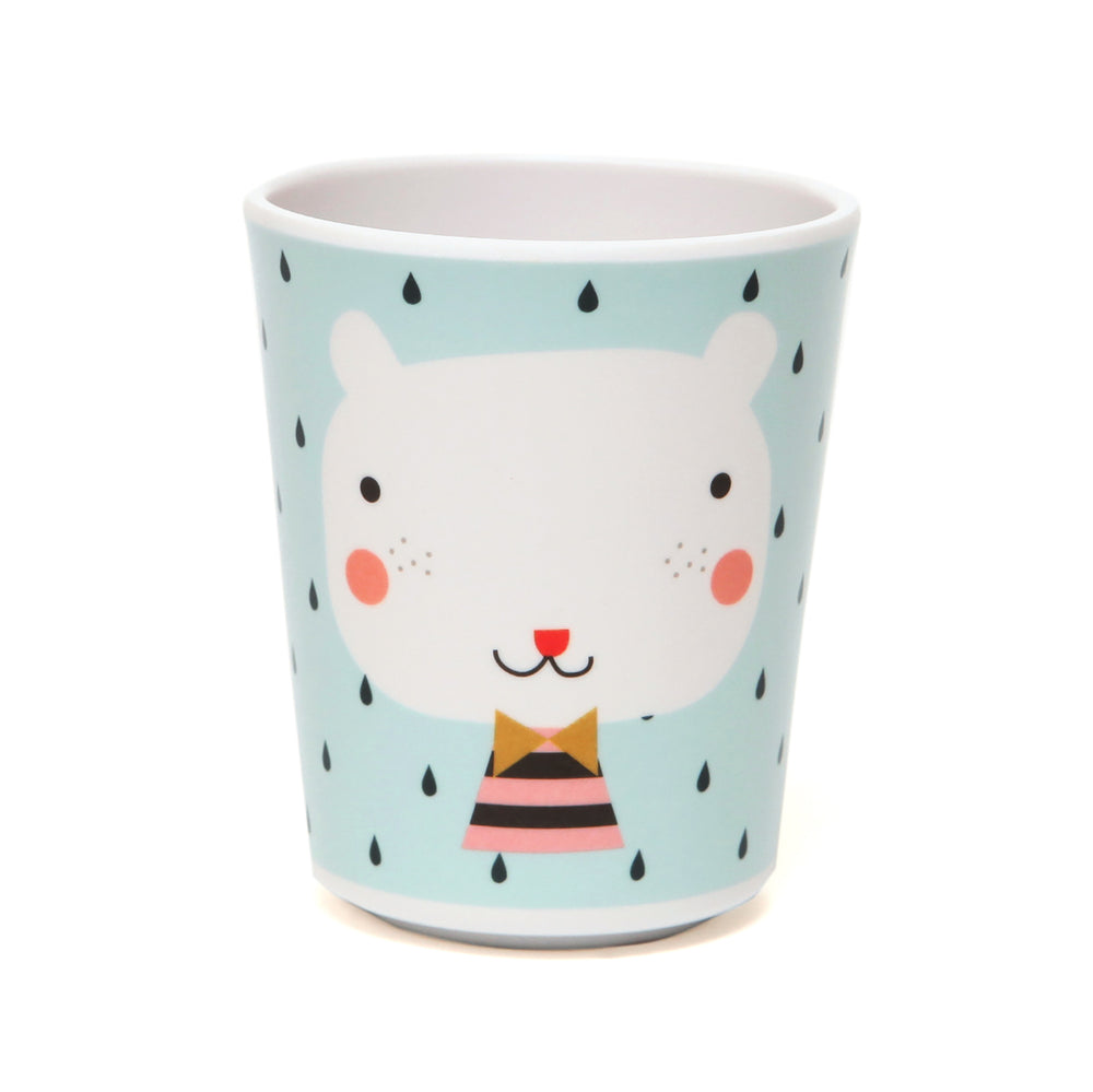MELAMINE CUP BEAR DROPS LIGHT BLUE-Tableware-Babyllama store