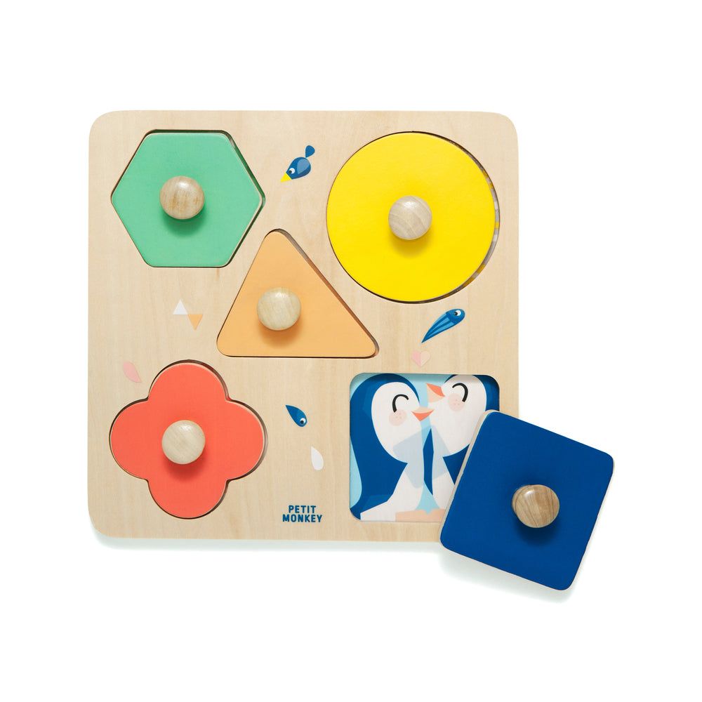 WOODEN PUZZLE - ONE DAY AT THE ZOO-Puzzle Toy-Babyllama store