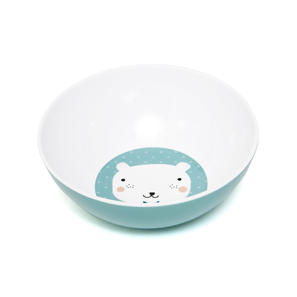 MELAMINE BOWL - BEAR DROPS LIGHT BLUE-Tableware-Babyllama store
