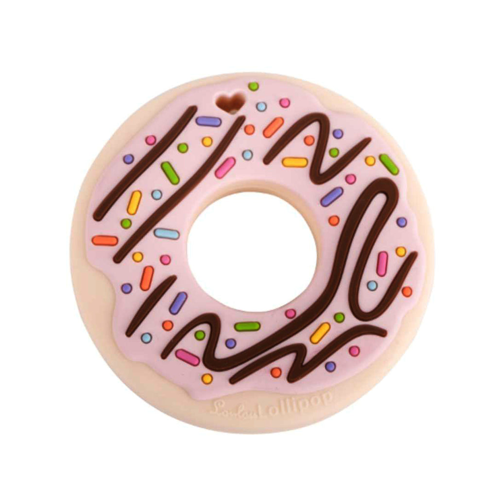 SILICONE TEETHER - DONUT PINK- BABYLLAMA STORE