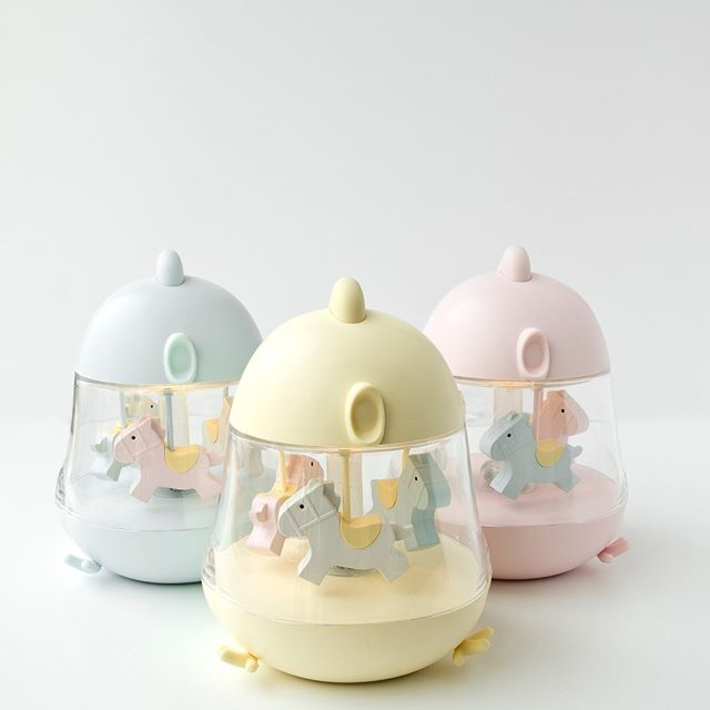 CHICK CAROUSEL MUSICAL BOX WITH NIGHT LIGHT - PINK-Nightlight-Babyllama store