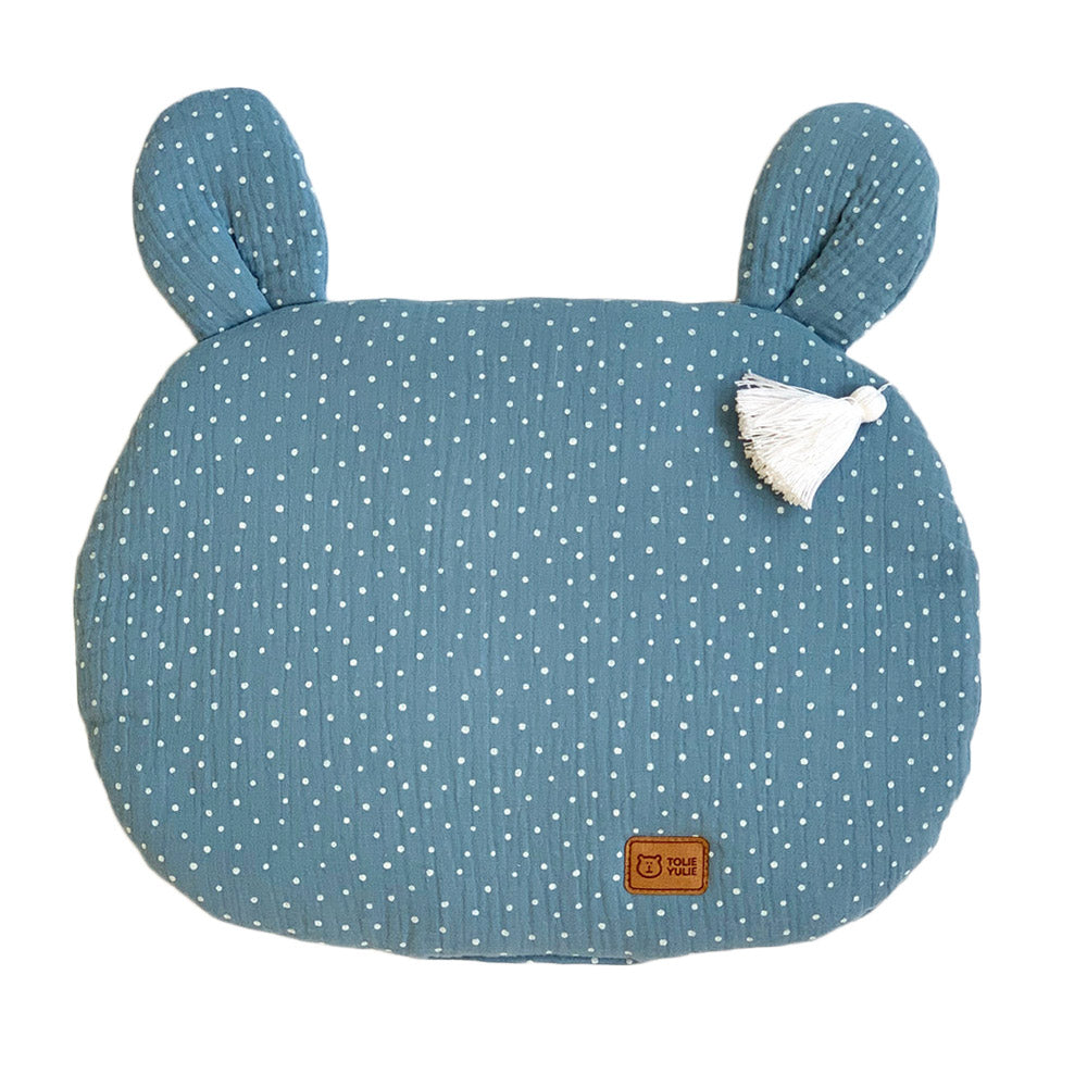 FLAT MUSLIN PILLOW WITH EARS - JEANS DOT-Pillow-Babyllama store