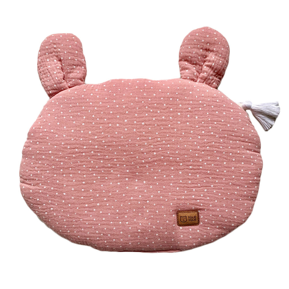 FLAT MUSLIN PILLOW WITH EARS - SWEET DOT-Pillow-Babyllama store