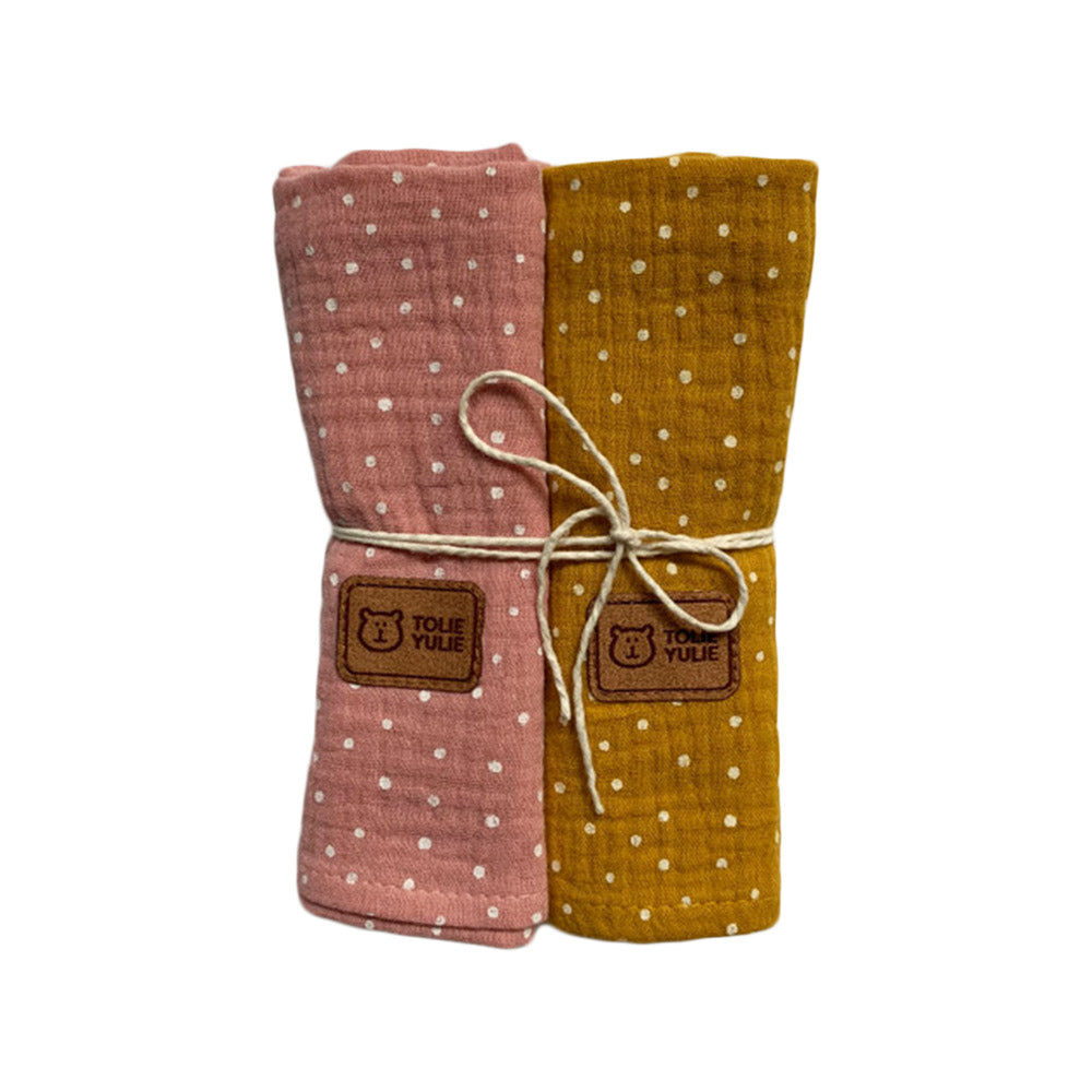 MUSLIN SQUARES - SWEET 2 PACK-Nappies-Babyllama store
