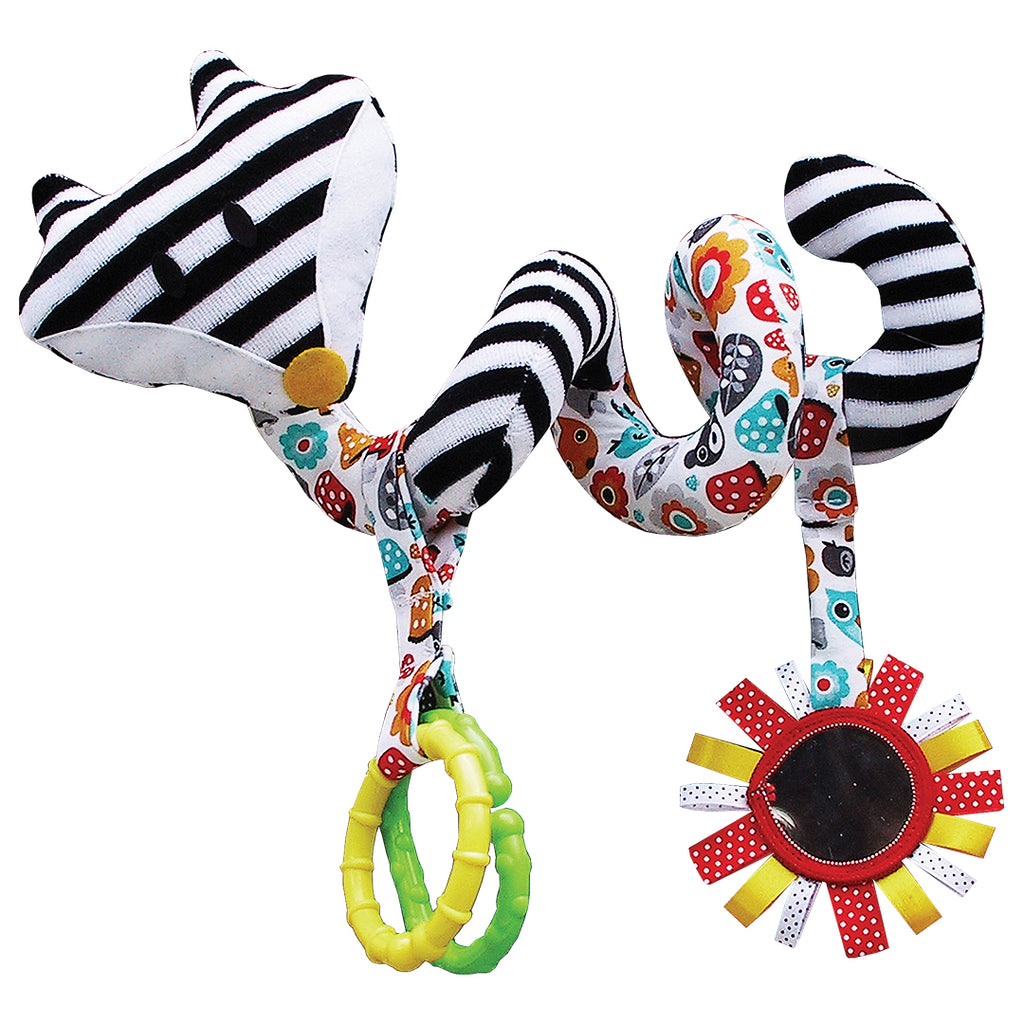 PRAM ACTIVITY SPIRAL - BLACK & WHITE FOX-Babyllama store
