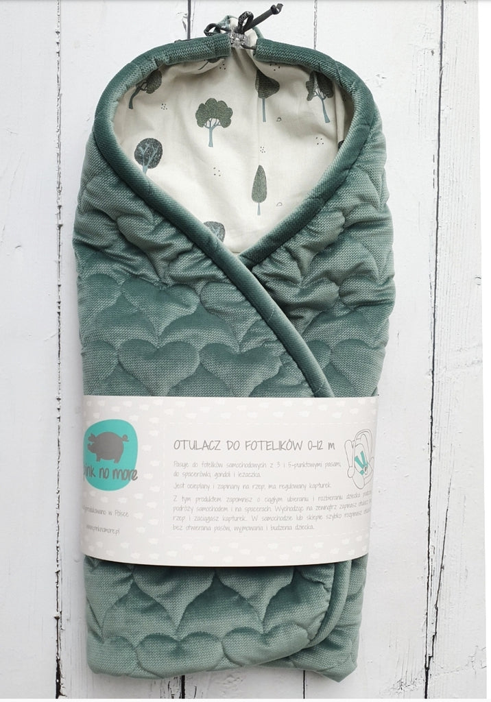 CAR SEAT BLANKET - GREEN & TREES - Babyllama store