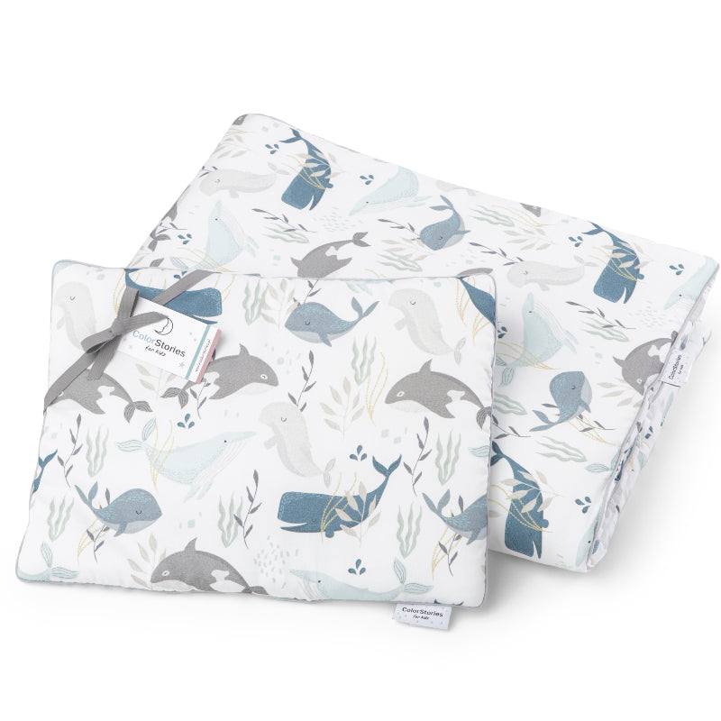 BEDDING SET WITH FILLING - OCEAN
