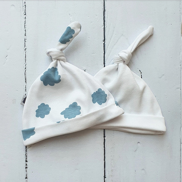 Baby Hat - Set of 2 - Clouds & White - Babyllama store