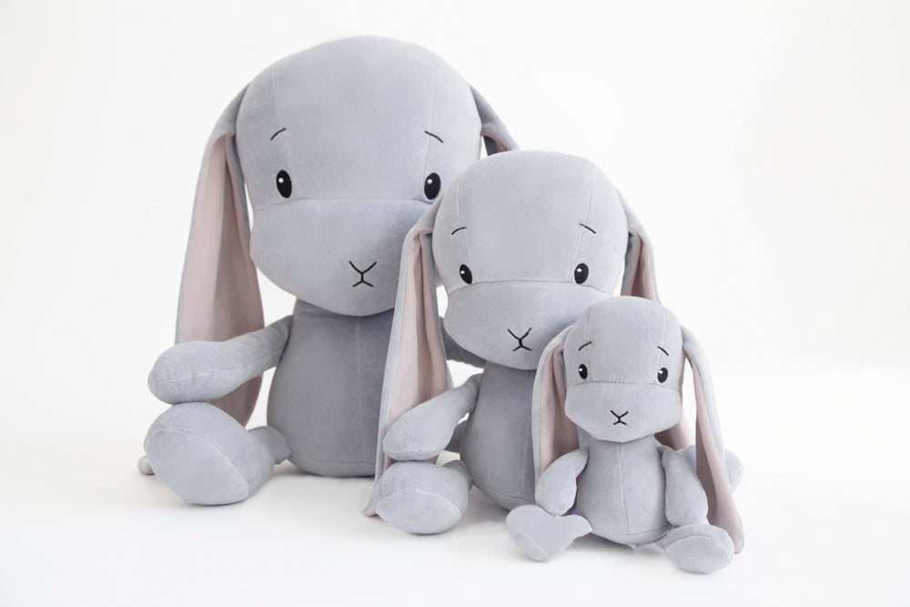 BUNNY EFFIK - GREY WITH PINK EARS S 20cm-Soft Toys-Babyllama store