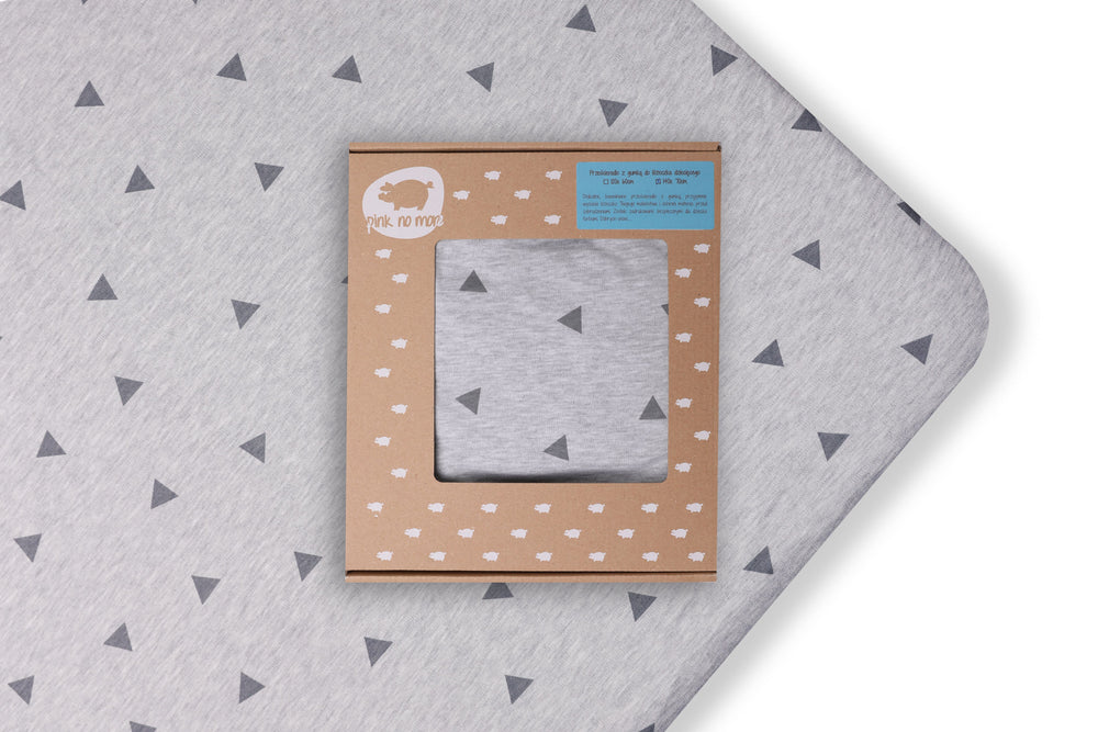 COT FITTED SHEET - TRIANGLES-Sheet-Babyllama store