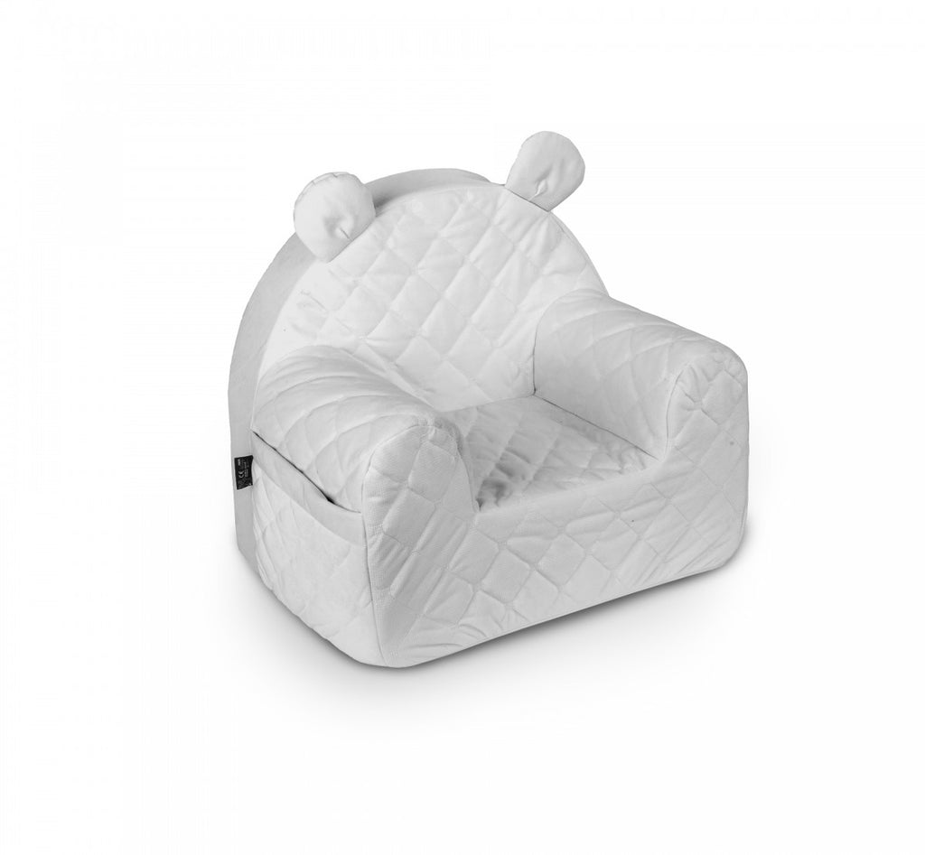 VELVET BEAR ARMCHAIR - GREY