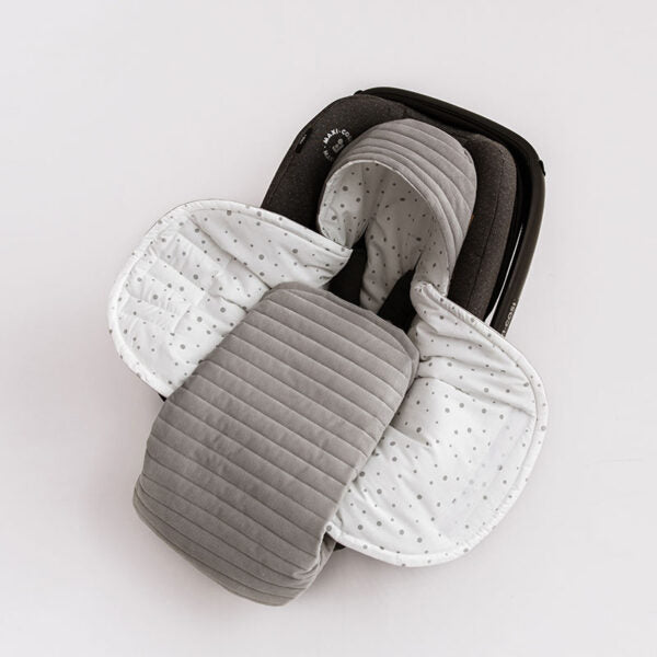 Car Seat Blanket - Grey - Babyllama store