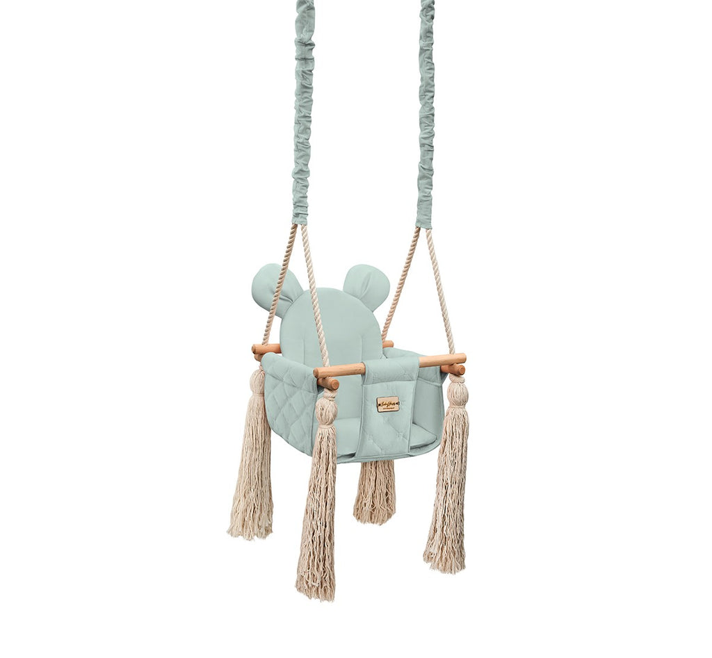 INDOOR SWING - VELVET SKY GREY - Babyllama store